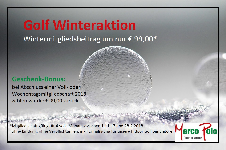 Golf: Winteraktion 2017/18
